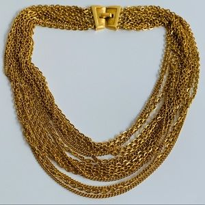 CROWN TRIFARI Multi Strand GOLD Necklace
